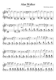 Alan Walker — Alone Download PDF Piano Sheet Music