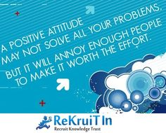 Keep a Positive Attitude at Work Place! #rekruitin #bepositive