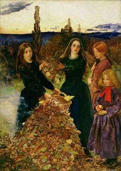 Autumn Leaves,  by John Everett Millais, 1856