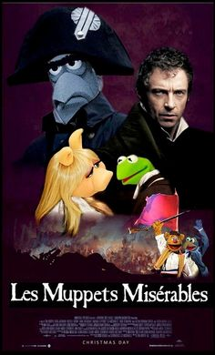 """Les Miserables"" featuring Hugh Jackman and The Muppets by DarkJediKnight, via Flickr"