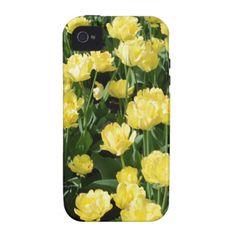 Yellow Tulips Vibe iPhone 4 Case