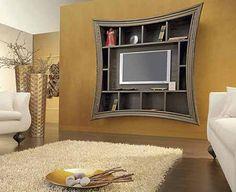 tv under the fireplace in bedroom   Originales marcos para instalar televisores de pantalla plana