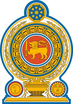 Brasão de armas do Sri Lanka. Coat of arms of Sri Lanka.