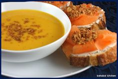 Kahakai Kitchen: Creamy Melon Gazpacho with Goat Cheese, Melon and Almond Toasts: Cool and Fruity for Souper (Soup, Salad & Sammie) Sundays