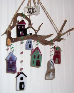 Apple Valley Houses Glass Wind Chime by LaurelArts on Etsy, $45.00
