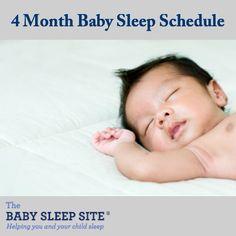 4 Month Old Baby Schedule #baby #sleep #schedules
