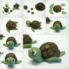 Turtle made out of play-doh