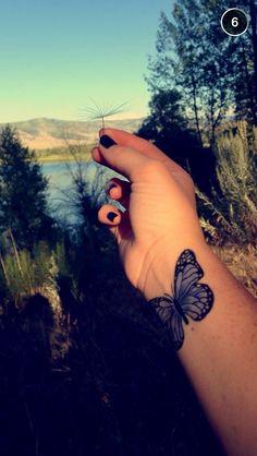Butterfly tattoo. Wrist tattoo. Color. Feminine tattoo. Colored tattoo. Tattoos for women. Nature tattoo. Nature tattoos. tattoos for women. #Butterfly #tattoos   butterfly tattoo on wrist. Butterfly tattoos.