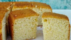 White chocolate sponge cake -