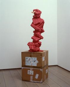 Rachel Harrison - Nose - 2005 Wood, polystyrene, cement, acrylic, rubber, cardboard 193 x 76.2 x 45.7 cm