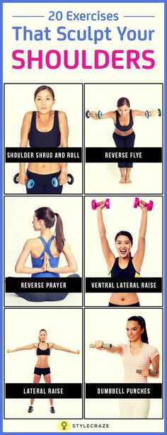 15 Best Shoulder Exercises For Women Any upper body exercise, or in fact, anything that involves the use of your upper body, needs strong shoulders. Given here are effective shoulder exercises for you to check out – 30 Days Workout Challenge Best Shoulder Workout, Shoulder Exercises, Shoulder Muscles, Body Weight, Weight Loss, Strong Shoulders, Lean Arms, Stress, Senior Fitness