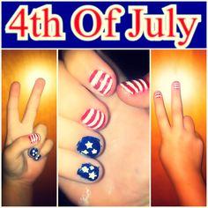4th of July Nails! :) juli nail, nail design, nail idea