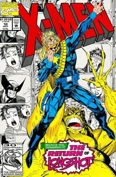 comicblah:  X-Men #10 cover art by Jim Lee and Scott Williams   This is the issue that features the X-Men turning into funny/parody Wizard of Oz versions of themselves, so Wolverine is this meek wimp who got beat up in school and the best he does is cower, Beast talks like Scooby Doo, Cyclops turns into :negativeman:, Rogue can't touch anybody, and I guess Psylocke, Jubilee, and Gambit are just evil flying monkeys. There's a weird Maverick story in here, too. Anyway one of my ...