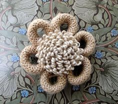 jute flower.  Use a twine covered twist tie for ease in shaping
