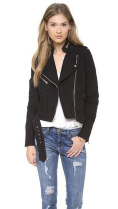 NWT JUICY COUTURE PITCH BLACK MADISON MOTO JACKET WOMEN'S EXTRA SMALL MSRP $278 #JuicyCouture #Motorcycle
