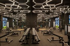 Fitness interior design gym lights 44 Ideas for 2019 Fitness Humor, Fitness Logo, Fitness Workouts, Muscle Fitness, Fitness App, Fitness Journal, Mens Fitness, Academia Completa, Gym Center