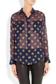Equipmentsignature printed silk-chiffon shirt