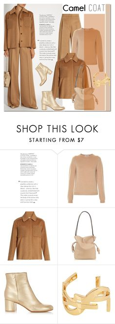 """""""Untitled #1475"""" by elena-777s ❤ liked on Polyvore featuring Jil Sander, MaxMara, Loewe, Gianvito Rossi, Yves Saint Laurent, camel, camelcoat, autumnwinter2016 and camelstyle"""