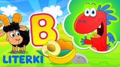 nauka literek dla dzieci ze Smokiem Edziem - litera B - literki dla dzie...