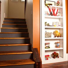 Foyer With Black Stair Risers Homes I Built Pinterest