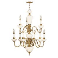 Livex Lighting Beacon Hill 9 Light Chandelier in Flemish Brass 5383-22