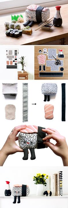Prove your Love for Sushi with this DIY Nigiri Plushie - Adorable easy to sew cut and sew sushi project.  Have you ever wanted to show your love for sushi with a plushie sushi?  Perfect for a gift for a sushi loving kid or as a decoration for your shelf.  Click to see the easy steps to create this cut and sew sushi plushie.  #plushie #cutandsew #sewing #howtosew #sew #decorate #sushi #sewing #sushilover #diytutorial #diy #diyproject