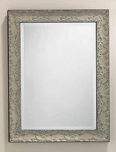 "Renaissance-styled Framed Bevel Mirror - #275 Features pewter highlights and black outside edges on frame 26""w, 1.75""d, 34""h"