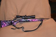 Pink Camo 243 Rifle | Overall investment for rifle scope and camo job is less than $700