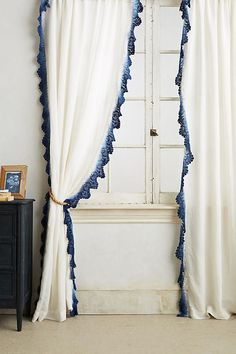 7 Persevering Cool Tips: Anthropologie Curtains Diy cafe curtains home decor.Unique Kitchen Curtains sheer curtains with valance. Drop Cloth Curtains, Home Curtains, Linen Curtains, Eclectic Curtains, Bohemian Curtains, Bathroom Curtains, Kitchen Curtains, Dip Dye Curtains, Bedroom Drapes