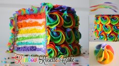 Hello again! I hope you enjoyed today's Rainbow Rosette Cake tutorial. This cake was so much fun to make, with easy techniques that produce a stunning cake! ...