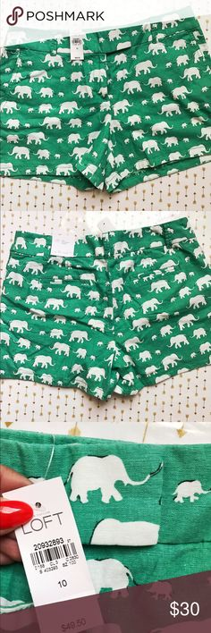 Loft riviera short Adorable elephant printed shorts from The loft store. These shorts are brand new with tags still attached! ❌ NO TRADES LOFT Shorts