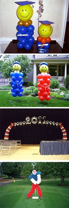 Balloons Willowbrook, IL – Unique Balloon Decorating - Decoration For Home Graduation Open Houses, Graduation Party Themes, Graduation Balloons, Graduation Celebration, Graduation Decorations, Balloon Centerpieces, Balloon Decorations, Balloons Galore, Balloon Columns