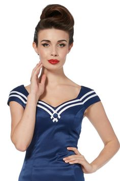 Momovintage presents. Voodoo Vixen Rockabilly Vintage Top. Great quality, Pinup ahoy! Sailor glam with this gorgeous Marina top. Fabric: Cotton £22.99