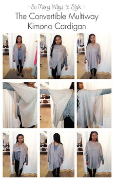 The Convertible Mutiway Kimono Cardigan