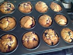 Blueberry muffins - choothefaf thermomix