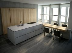 Kitchen with island with integrated handles PROGETTO50 | Kitchen with island - TONCELLI CUCINE
