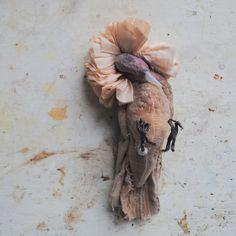 Dead  Bird soft sculpture. Textile art piece. by MisterFinch