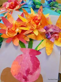PAINTED PAPER: Painted Paper Bouquets - maybe for Mother's Day...