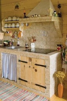 country style kitchen, rustic, country chic – Ideas for the House – Nice Home Decor Tips Rustic Kitchen, Country Kitchen, Kitchen Decor, Küchen Design, House Design, Concrete Kitchen, Cabin Kitchens, Kitchen Interior, Kitchen Remodel