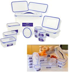 13 Piece Clip & Lock Plastic Food Storage Air Tight Containers Picnic Lunchbox