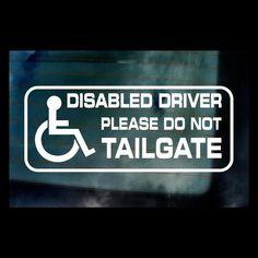 DISABLED DRIVER HANDICAP MINI BUS stickers decals vinyl WINDOW CAR VAN BIKE