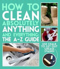 How to clean everything.