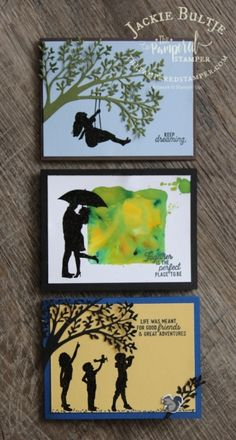 Silhouette Scenes is a classic stamp set that makes it a breeze to make clean and simple cards that are striking and elegant! Stampin Up Karten, Stampin Up Cards, Serene Silhouettes, Love Silhouette, Stampin Up Catalog, Craft Night, Ink Pads, Stamping Up, Kids Cards