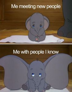 "Here are some amazing funny memes that every introvert will relate with and say, ""That's me!"" Let's see how many memes can you relate yourself with, have a look even if you don't think yourself as an introvert. Walt Disney, Disney Love, Disney Magic, Disney Pixar, Dumbo Disney, Punk Disney, Disney Facts, Disney Babies, Disney Cartoons"