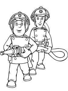 Ausmalbild Feuerwehrmann Sam Feuerwehrmann Sam Basteln Mit Für