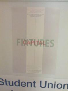 """Capital Fixtures"" poster."