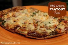 BBQ Chicken Flatout Pizza | No Thanks to Cake