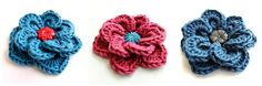 free-crochet-pattern-for-2-layer-flower-with-overlapping-petals.jpg 800×267 pixels