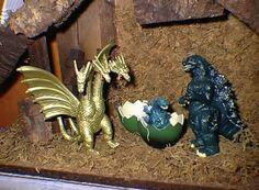 Godzilla nativity:  Personally I'd use Ghidorah as the three wise men... and Mothra as Gabriel.