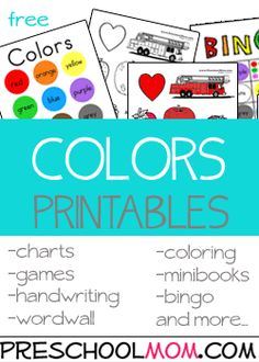Color Chart for Notebook, Coloring Pages